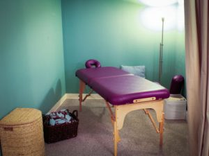 private treament room at Eagle Rock Community Acupuncture