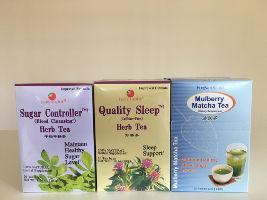 selection of herbal teas