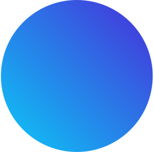 Blue circle with gradient cotor