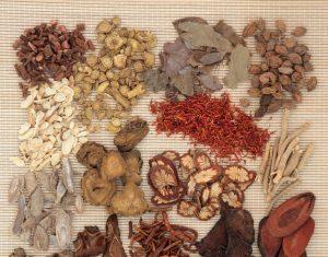 An assortment of Chinese medicinal herbs